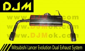 DJM Mitsubishi Lancer Evolution Dual Exhaust System