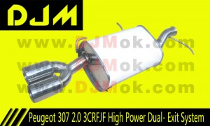 DJM Peugeot 307 2.0 3CRFJF High Power Dual-Exit System