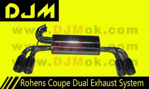 DJM Rohens Coupe Dual Exhaust System