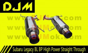 DJM Subaru Legacy BL BP High Power Straight Through