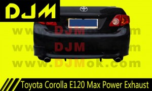 DJM Toyota Corolla E120 Max Power Exhaust