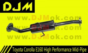 DJM Toyota Corolla E160 High Performance Mid-Pipe