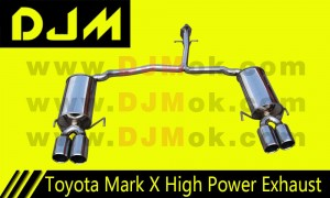 DJM Toyota Mark X High Power Exhaust