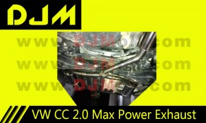 DJM VW CC 2.0 High Performance Max Power Exhaust