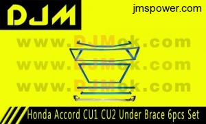 DJM Honda Accord CU1 CU2 Under Brace 6pcs Set