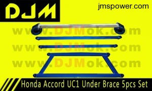DJM Honda Accord UC1 Under Brace 5pcs Set