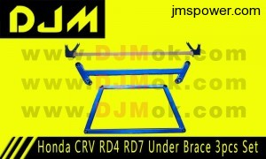 DJM Honda CRV RD4 RD7 Under Brace 3pcs Set