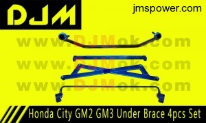 DJM Honda City GM2 M3 Under Brace 4pcs Set
