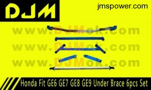 DJM Honda Fit GE6 GE7 GE8 GE9 Under Brace 6pcs Set