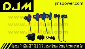 DJM Honda Fit GE6 GE7 GE8 GE9 Under Brace Screw Accessories Set