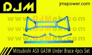 DJM Mitsubishi ASX GA3W Under Brace 4pcs Set