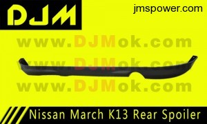 DJM Nissan March K13 Rear Spoiler