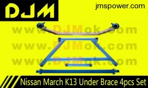 DJM Nissan March K13 Under Brace 4pcs Set