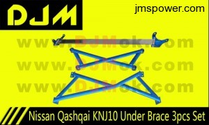 DJM Nissan Qashqai KNJ10 Under Brace 3pcs Set