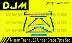 DJM Nissan Teana J32 Under Brace 7pcs Set