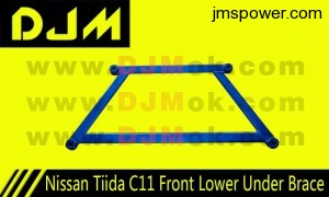 DJM Nissan Tiida C11 Front Lower Under Brace
