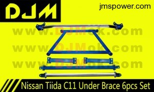 DJM Nissan Tiida C11 Under Brace 6pcs Set