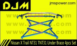 DJM Nissan X Trail NT31 TNT31 Under Brace 4pcs Set