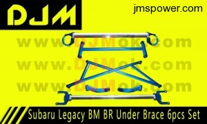DJM Subaru Legacy BM BR Under Brace 6pcs Set