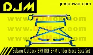 DJM Subaru Outback BR9 BRF BRM Under Brace 6pcs Set