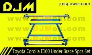 DJM Toyota Corolla E160 Under Brace 5pcs Set