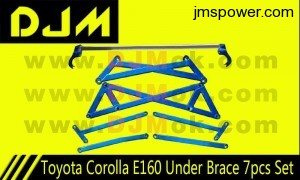 DJM Toyota Corolla E160 Under Brace 7pcs Set