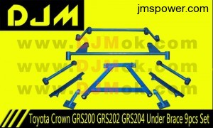 DJM Toyota Crown GRS200 GRS202 GRS204 Under Brace 9pcs Set