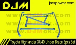DJM Toyota Highlander XU40 Under Brace 5pcs Set