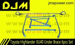 DJM Toyota Highlander XU40 Under Brace 6pcs Set