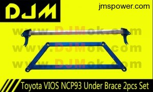 DJM Toyota VIOS NCP93 Under Brace 2pcs Set