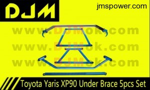 DJM Toyota Yaris XP90 Under Brace 5pcs Set