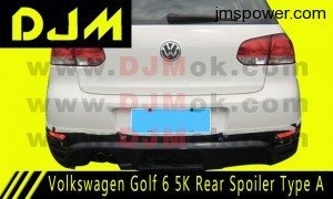 DJM Volkswagen Golf 6 5K Rear Spoiler Type A