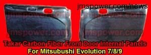 Takar Carbon Fiber Front Doors-Internal Panels for Mitsubishi Evolution 7/8/9