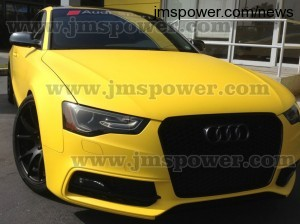 DJM Matte Yellow Car Sticker